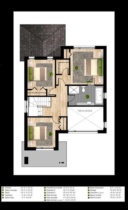 Mod le u 2 ouvert maison unifamiliale groupe 4m for Modele maison en u ouvert